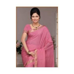 Pink Pure Mysore Silk Saree with Blouse