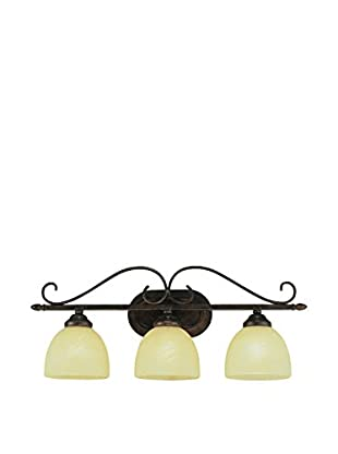 Bel Air Lighting Handlebar Moustache 3-Bath Bar, Rubbed Oil Bronze