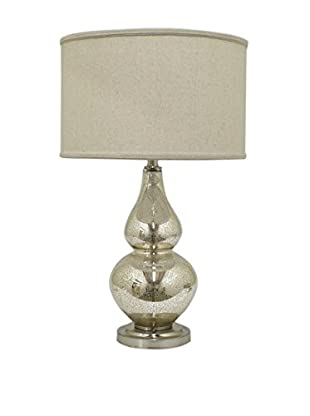 Three Hands Glass Table Lamp, Mercury
