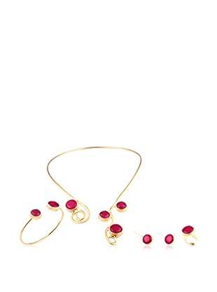 Handmade_Art Conjunto de collar, pulsera, pendientes y anillo