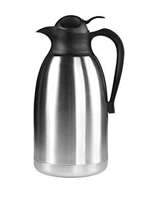 Fortessa Insulated Beverage Server, Stainless Steel/Black, 64-Oz.