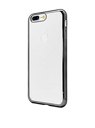 UNOTEC Funda TPU Gel iPhone 7 Plus Color Frame Negro