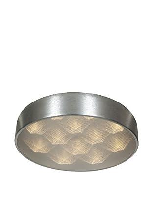 Access Lighting Meteor 9-Light LED Flush Mount, Brushed Silver/Acrylic