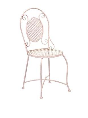 Yates Iron Bistro Chair, Pink
