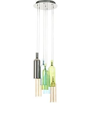 Contemporary Lighting Lámpara De Suspensión Bottles Multicolor