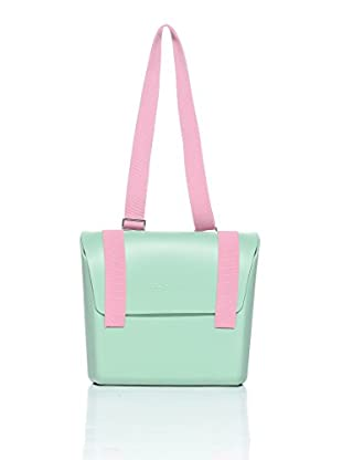 Mh Way Bolso Mix Match (Verde / Rosa)