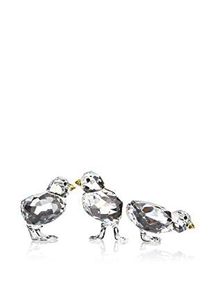 Swarovski Set of 3 Baby Chickens Figurines
