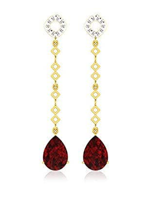 Diamant Vendome 5 Cts Ruby Earring In 9Kt Yellow Gold (Gh Color, Pk Clarity) T12344Y/9/Ns/Ruby Yellow Gold