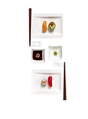 Villeroy & Boch New Wave 8-Piece Sushi Service for 2, White