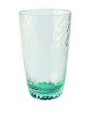Textured Acrylic Large Highball Glass, Clear/Green