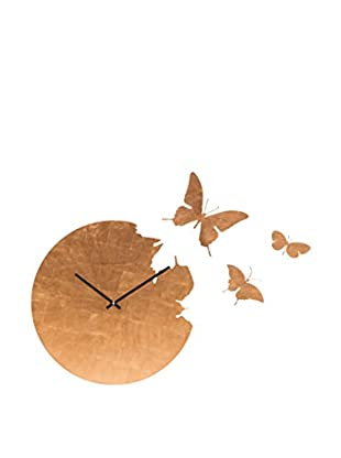 Diamantini & Domeniconi Reloj De Pared Butterfly Cobre