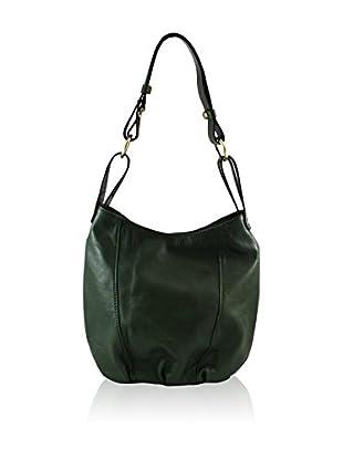 Chiara Morgante Schultertasche  grün