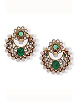 Astonishing Green Polki Earrings