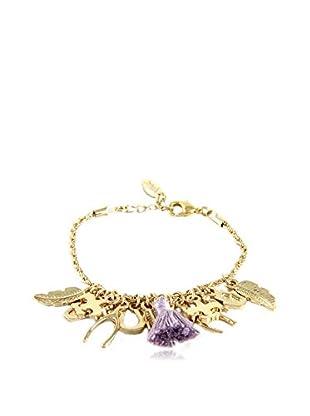 Ettika 18K Gold-Plated & Lavender Charmed Life Bracelet