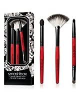 Smashbox On The Rocks Travel (Double-ended smudger brush, Fan Brush & shadow brush)3pc Brush Set