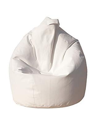 Modern Loft Sitzsack Sacco In Nylon weiß