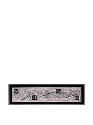 Concept Luxury Wandbild Abstract silber/schwarz