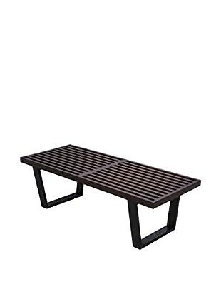 LeisureMod Mid-Century George Platform Bench