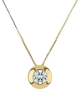 GOLD & DIAMONDS Set Kette und Anhänger Sunflower 18 Karat Gold