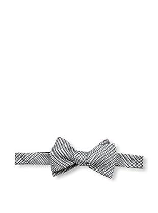 Bruno Piattelli Men's Plaid Bow Tie, Black/White