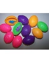 6 Dz Dinosaurs Eggs With Mini Toy Dinosaur Figures Inside 72 Per Order