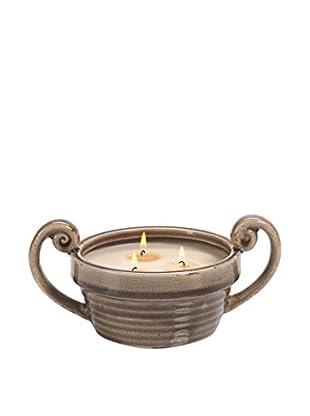 Zodax Illuminaria Citronella Scented Candle Bowl, Taupe