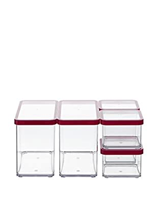 Rotho Frischhaltebox 5er Set Loft - Starter transparent