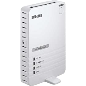 【クリックで詳細表示】I-O DATA データ通信カード用 Wi-Fi対応モバイルルーター WN-G54/DCR: パソコン・周辺機器