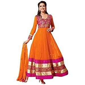 Bhuwal Fashion Sonali Bendre Anarkali Suit - Orange