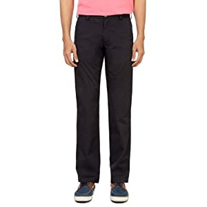 Peter England Slim Fit Casual Trousers