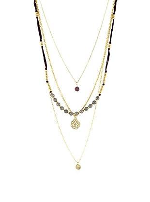 Ettika Gray Jade & Burgundy Just A Few Things Layered Necklace
