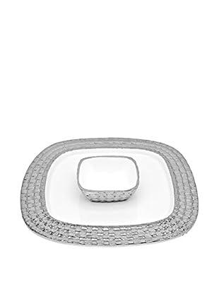 Godinger White Weave Chip & Dip