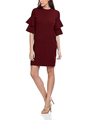 Tantra Kleid Knitted With Ruffles In The Sleeves