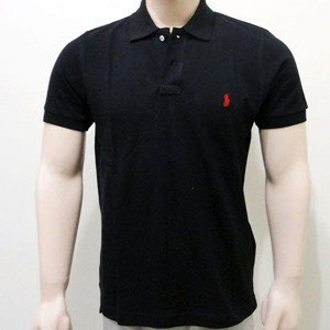 Black Polo Tee by Ralph Lauren | Color Black | Sizes S