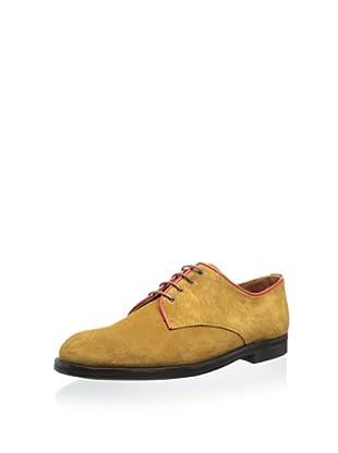 b STORE Men's Gordon 1 Oxford (Tan/Vibrant Red)