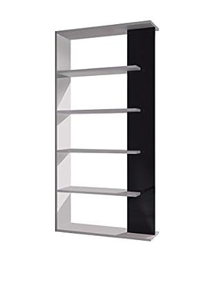 13casa Bücherregal Kafka A2 weiß/schwarz