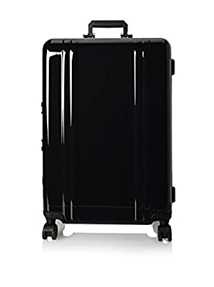 Zero Halliburton Classic Polycarbonate 26 Inch 4 Wheel Spinner Travel Case, Black