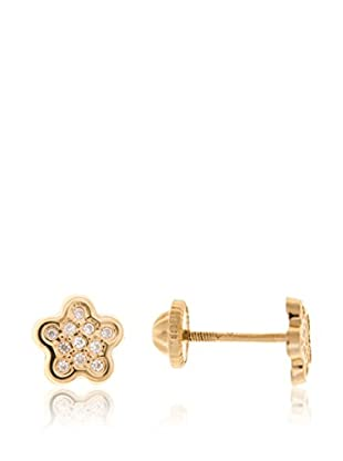 Gold & Diamonds Orecchini Flower oro giallo 18 Kt