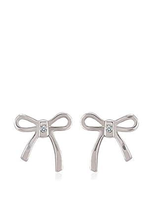 Divas Diamond Pendientes Diamond Tie plata de ley 925 milésimas