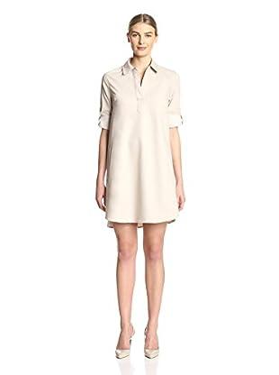 Sharagano Women's Roll Sleeve Shirtdress
