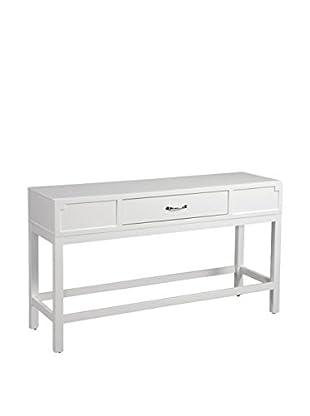 Bassett Mirror Company Console Table, White
