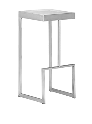 Zuo Modern Deal Bar Chair, Stainless Steel