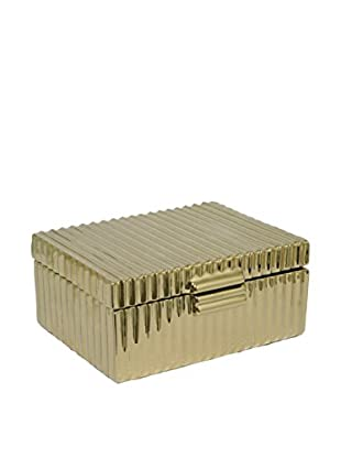 Three Hands Ceramic Box, Gold