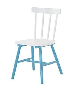 13 Casa Stuhl 2er Set Kaos D10 blau/weiß