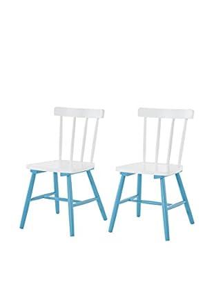 Multicolor Home Stuhl 2er Set weiß