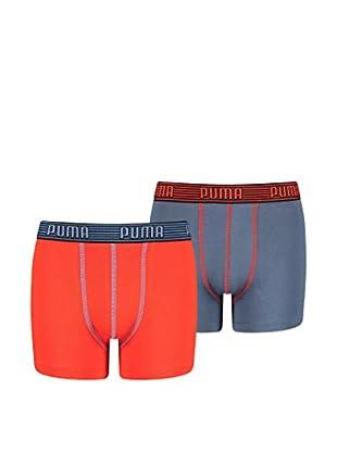 Puma 4tlg. Set Boxershorts Elastic Striped Basic