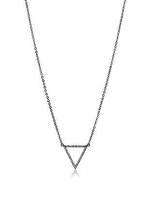 Chloe & Theodora CZ Triangle Pendant Necklace