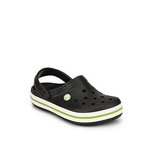 Crocband black sandals