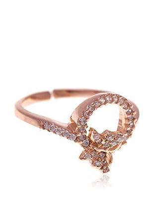 My Silver Anillo Mariposa & Diamantada Oro Rosa