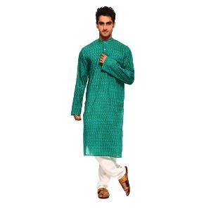 Aapno Rajasthan Men's Kurta - Teal Blue